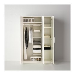 BRIMNES Wardrobe With 3 Doors White IKEA FAMILY