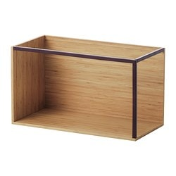 IKEA PS 2014 storage module, dark red, bamboo Width: 60 cm Depth: 30 cm Height: 35 cm