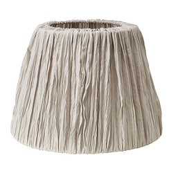 HEMSTA lamp shade, light grey Diameter: 36 cm Height: 26 cm