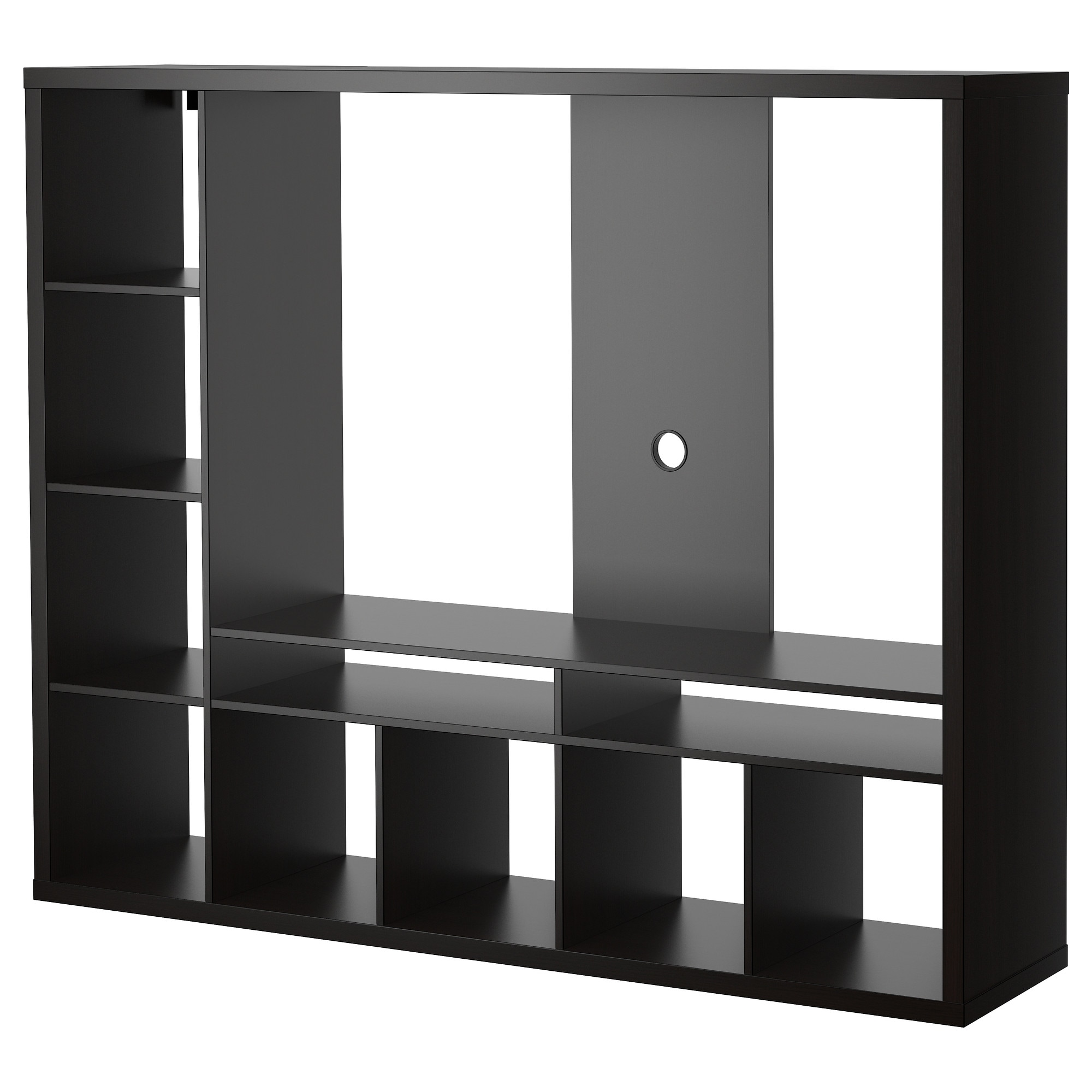 lappland tv storage unit black brown ikea - Media Stand Ikea
