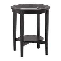 MALMSTA side table, black-brown