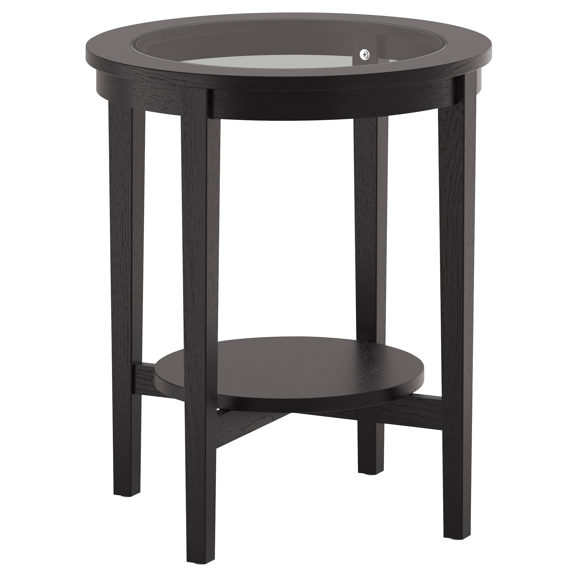 Ikea leksvik coffee table - Malmsta Side Table Black Brown Height 24 3 4 Diameter