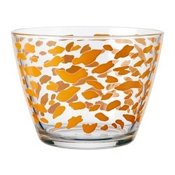"BJUDNING bowl, orange Diameter: 4 "" Height: 3 "" Diameter: 11 cm Height: 8 cm"