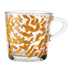 BJUDNING mug, orange Height: 8 cm Volume: 21 cl