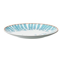 DRIFTIG side plate, patterned turquoise Diameter: 21 cm