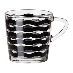 SATSNING mug, black Height: 8 cm Volume: 21 cl