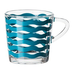 SATSNING mug, turquoise Height: 8 cm Volume: 21 cl