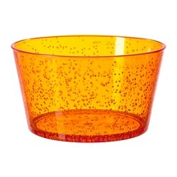 PLACERA serving bowl, orange Diameter: 15 cm Height: 9 cm
