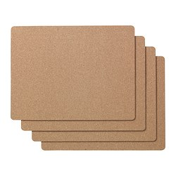AVSKILD place mat, cork Length: 42 cm Width: 32 cm Package quantity: 4 pieces