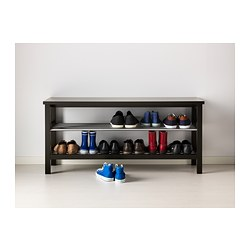 TJUSIG Bench With Shoe Storage, Black