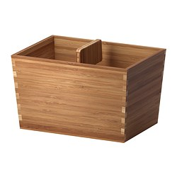 VARIERA box with handle, bamboo Length: 24 cm Width: 17 cm Height: 16 cm