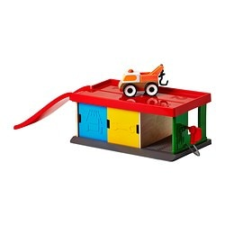 LILLABO, Garage with tow truck