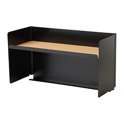 BEKANT, Desktop shelf, black