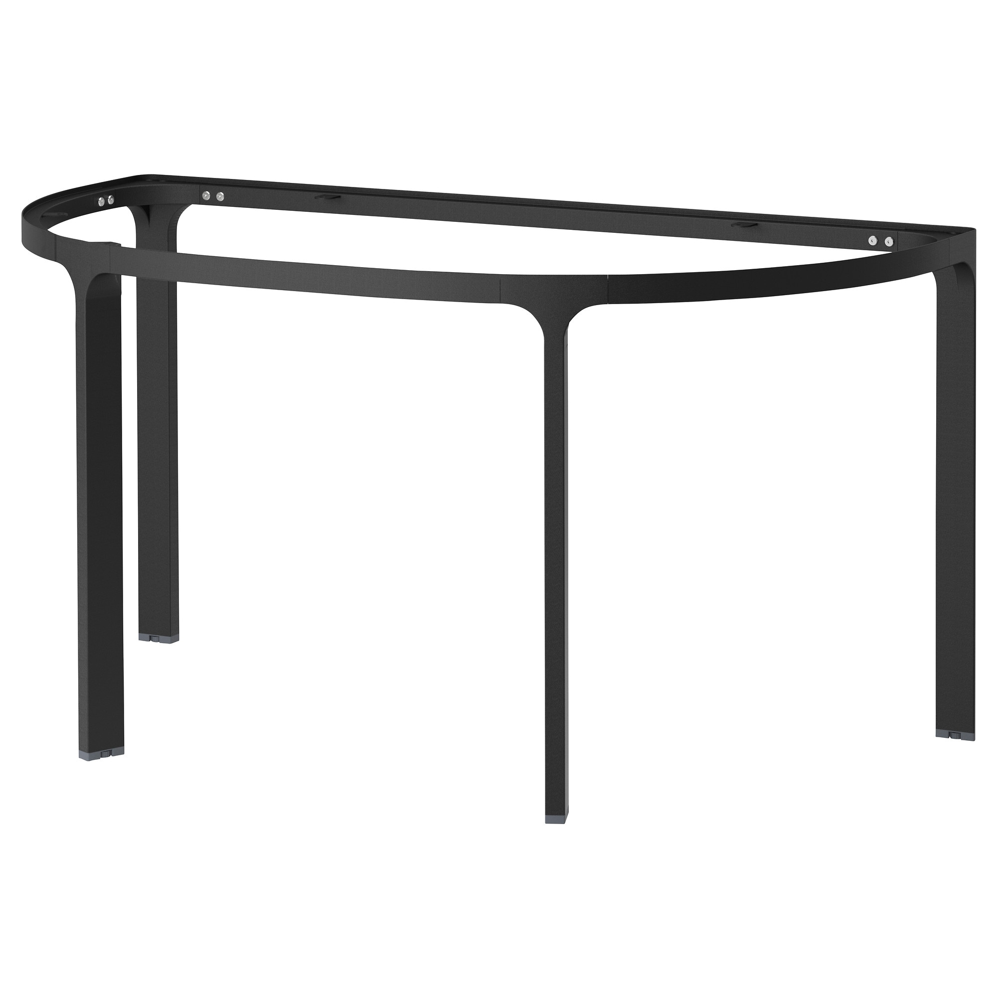 BEKANT Frame For Half Round Table Top, Black