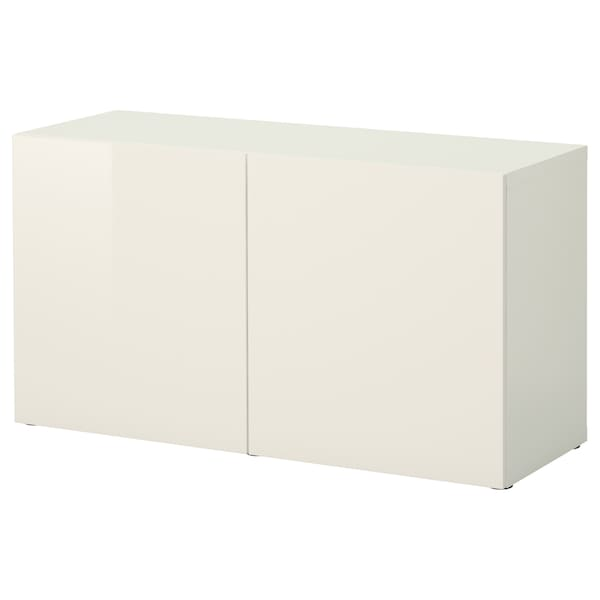 newest collection 6369a 1da42 Shelf unit with doors BESTÅ white, Selsviken high-gloss/white