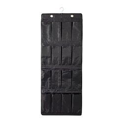 SKUBB hanging shoe organiser w 16 pockets, black