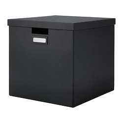 TJENA, Box with lid, black