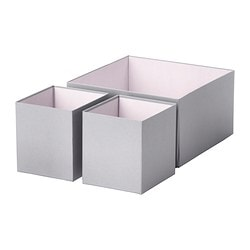 HYFS box, set of 3, gray