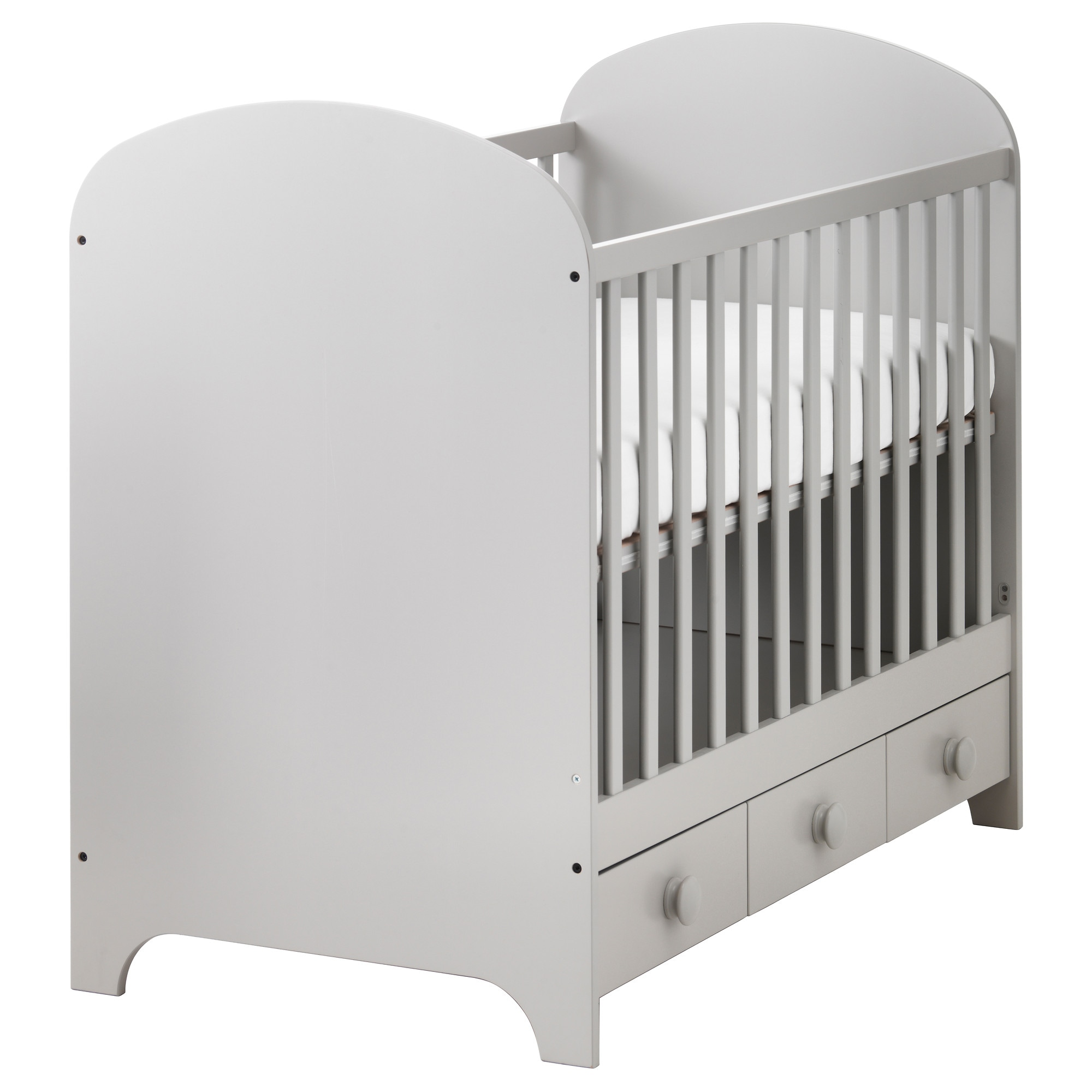 Baby bed extension uk - Gonatt Crib Light Gray Length 53 1 2 Width 29 1