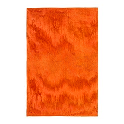 TOFTBO tapis de bain, orange Longueur: 90 cm Largeur: 60 cm Superficie: 0.54 m²