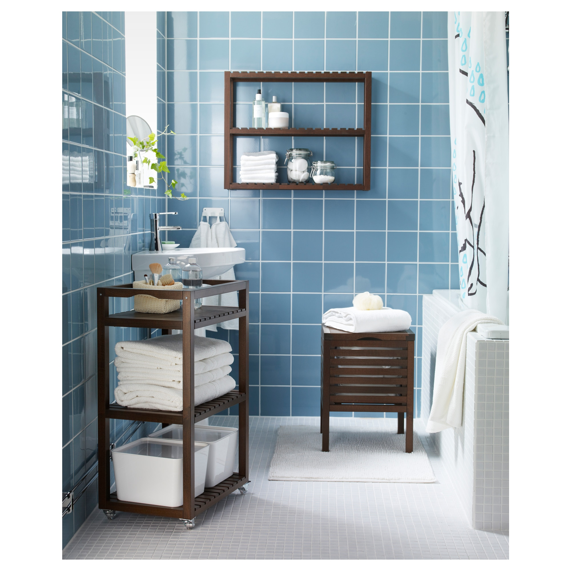 Ikea Bathroom molger cart - birch - ikea