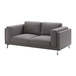 NOCKEBY loveseat cover, Risane gray
