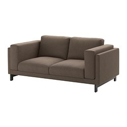 NOCKEBY two-seat sofa, Tenö brown, wood Width: 203 cm Depth: 97 cm Free height under furniture: 15 cm
