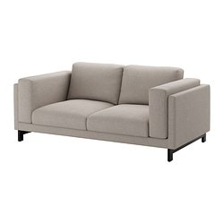 "NOCKEBY loveseat, wood, Tenö light gray Width: 79 7/8 "" Depth: 38 1/4 "" Height under furniture: 5 7/8 "" Width: 203 cm Depth: 97 cm Height under furniture: 15 cm"