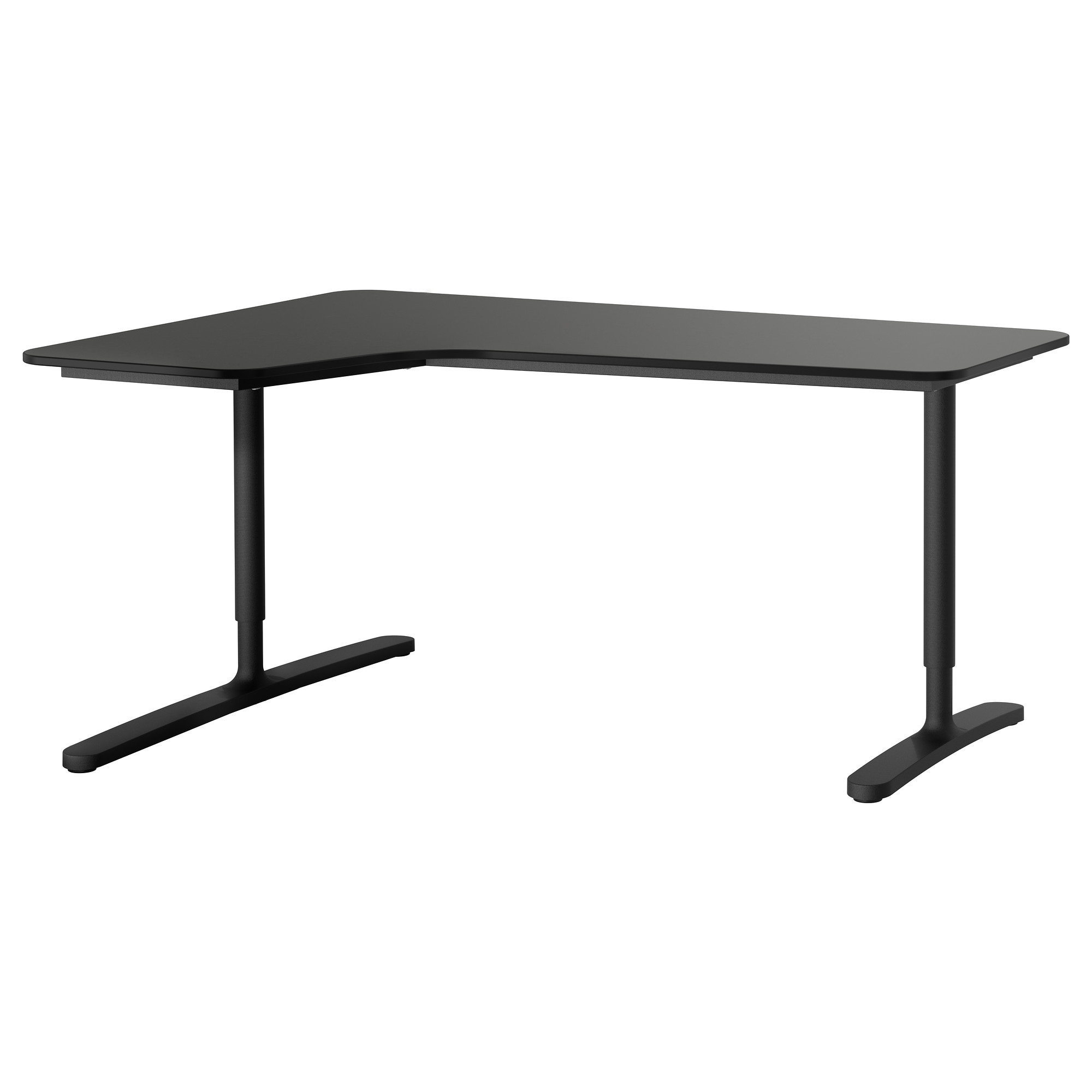 BEKANT Corner Desk Left   Gray/black   IKEA