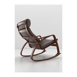 POÄNG Rocking Chair, Medium Brown, Robust Glose Dark Brown