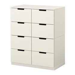 NORDLI chest of 8 drawers, white Width: 80 cm Depth: 43 cm Depth of drawer: 39 cm