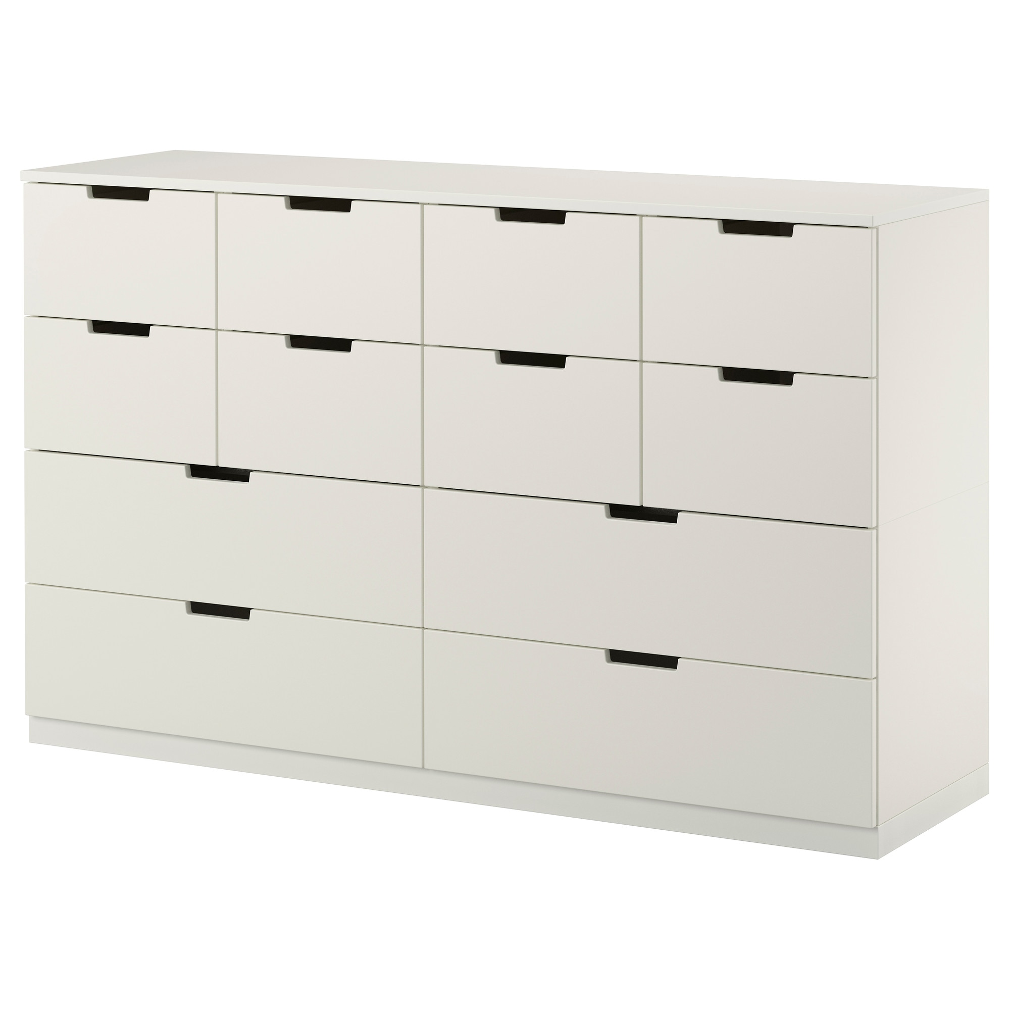 Ikea bedroom furniture chest of drawers - Nordli Chest White Width 63 Depth 16 7 8 Height
