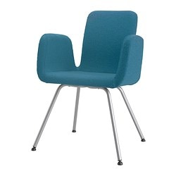 "PATRIK conference chair, Ullevi blue Tested for: 242 lb 8 oz Width: 23 5/8 "" Depth: 21 5/8 "" Tested for: 110 kg Width: 60 cm Depth: 55 cm"