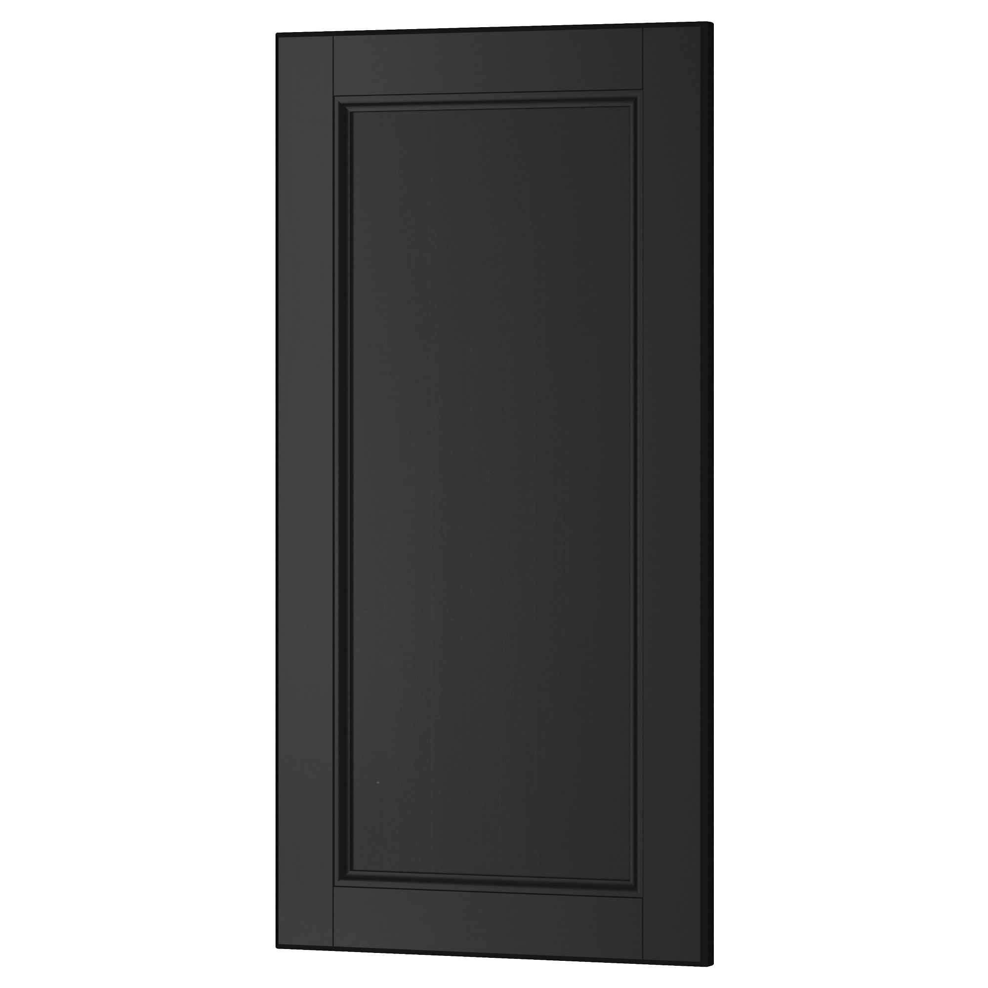 Door black tingsryd 2 p door corner base cabinet set for Black kitchen cabinet doors