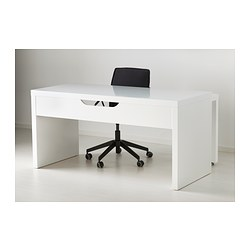 malm desk with pull out panel white 151x65 cm. Black Bedroom Furniture Sets. Home Design Ideas