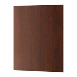 "EDSERUM cover panel, wood effect brown Width: 24 5/8 "" Height: 30 "" Thickness: 1/2 "" Width: 62.5 cm Height: 76.2 cm Thickness: 1.3 cm"
