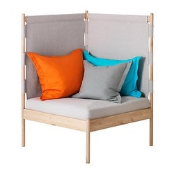 IKEA PS 2014 corner easy chair with cushions Width right: 90 cm Width left: 90 cm Free height under furniture: 27 cm