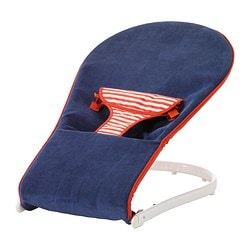 TOVIG baby bouncer, blue, red Width: 45 cm Depth: 80 cm Max. height: 36 cm