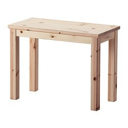 "NORNÄS side table, pine Width: 23 1/4 "" Depth: 11 3/4 "" Height: 17 3/4 "" Width: 59 cm Depth: 30 cm Height: 45 cm"