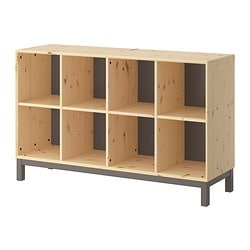 "NORNÄS sideboard basic unit, gray, pine Width: 56 1/4 "" Depth: 15 3/4 "" Height: 34 5/8 "" Width: 143 cm Depth: 40 cm Height: 88 cm"