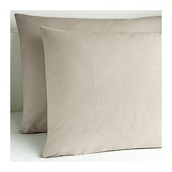 DVALA pillowcase, beige Length: 50 cm Width: 80 cm Package quantity: 2 pack