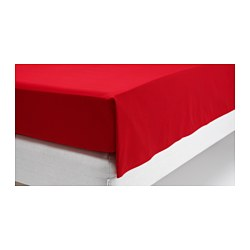DVALA sheet, red Thread count: 144 /inch² Length: 260 cm Width: 150 cm