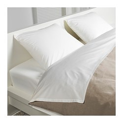 DVALA sheet set, white Thread count: 144 /inch² Thread count: 144 /inch²