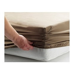 GÄSPA fitted sheet, brown Thread count: 310 /inch² Length: 200 cm Width: 90 cm