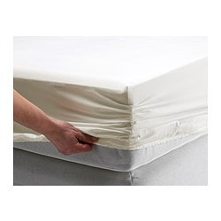 GÄSPA fitted sheet, white Thread count: 310 /inch² Length: 200 cm Width: 90 cm