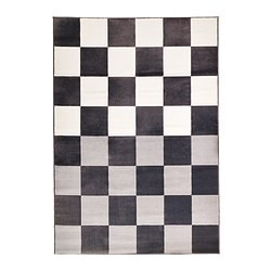"VRÅBY rug, low pile, gray/white Length: 7 ' 7 "" Width: 5 ' 3 "" Area: 39.61 sq feet Length: 230 cm Width: 160 cm Area: 3.68 m²"
