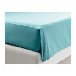 GÄSPA sheet, turquoise Thread count: 310 /inch² Length: 260 cm Width: 240 cm
