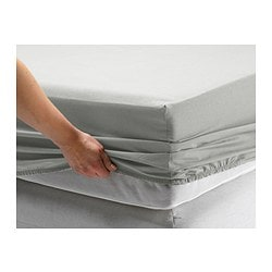 SÖMNIG fitted sheet, light gray Thread count: 166 /inch² Thread count: 166 /inch²