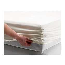 SÖMNIG fitted sheet, white Thread count: 166 /inch² Thread count: 166 /inch²