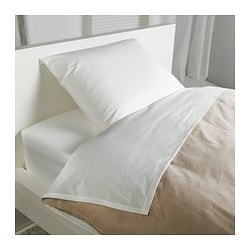 SÖMNTUTA sheet set, white Thread count: 400 /inch² Thread count: 400 /inch²